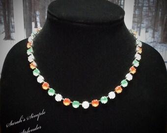 Opal, mint, coral