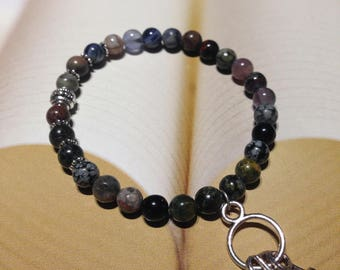 Handmade unique natural stone bracelet