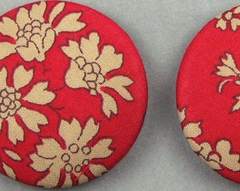 Fabric covered buttons - Liberty Capel F - 32 mm diameter - know