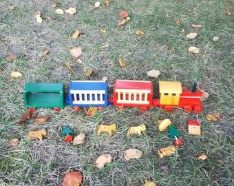 Kurt S. Adler wooden circus train