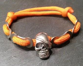 Mens Paracord bike chain bracelet