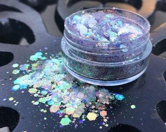 Supernova - Chunky Face and Body Glitter - Festival Glitter - Glitter Makeup - Cosmetic Glitter - Purple Blue Glitter - Body Paint