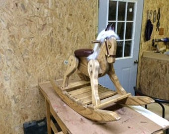 Handcrafted wood rocking horse