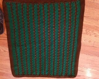 Hunter Green & Brown Baby Blanket