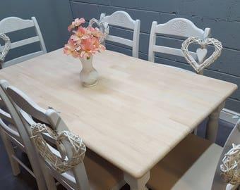Lovely 5ft Shabby Chic Table Set