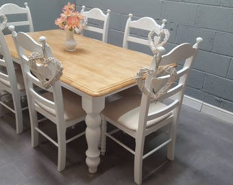 Fabulous Bespoke Shabby Chic  6ft x 3ft Table Set