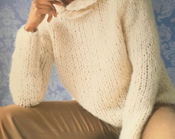 PDF Knit Shawl-Collared Pullover (EASY)