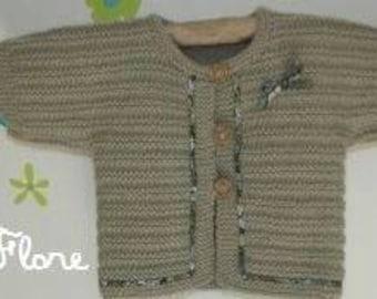Handmade knit vest girl 6 months