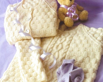 Jumper and Cardigan, Knitted Pattern, Instant Download.