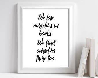 Printable Book Quote Wall Art, Book Lover Gift, Reading Gift, Classroom Decor, Teacher Appreciation Gift