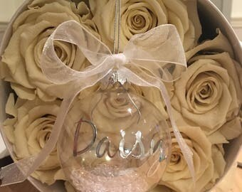 Christmas personalised baubles