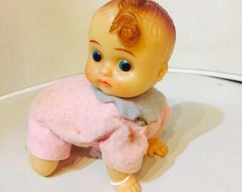 Vintage plastic wind-up baby