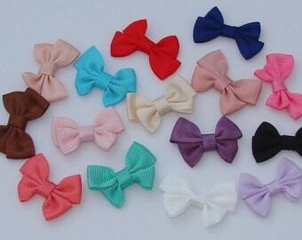 15 bows fabric multicolored 41x27x6mm - Ref: NE 540