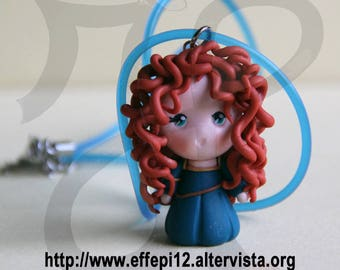 """Necklace with doll a bit rebellious """"Merida"""""""