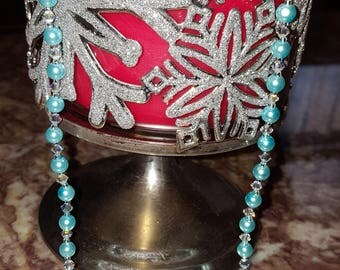 Aqua Blue Necklace, Swarovski crystals Passions and Celestial Crystal glass pearl
