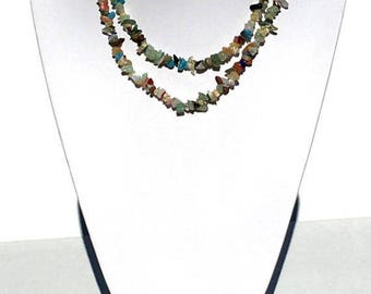 Mixed Stones Beaded Necklace Set; Handmade Necklace