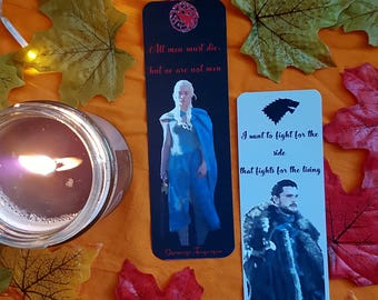 Game of Thrones bookmarks - Daenerys Targaryen / Jon Snow
