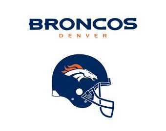 Football logo svg Denver svg  Broncos svg Cutting Files For Cricut Explore Silhouette PNG Clipart Digital Download
