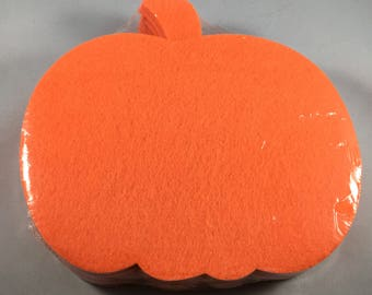12 Felt Pumpkin Decorations