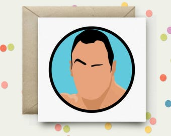 The Rock Square Pop Art Card & Envelope