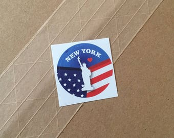 New York Round 38x38mm Sticker