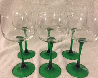 Vintage Arcoroc France Wine Glasses - Set of 6