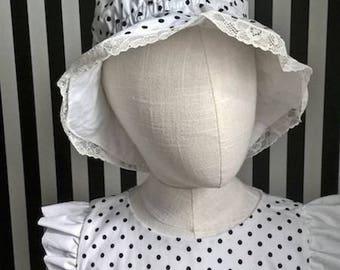 Hat with polka dots girl Lulupidoo