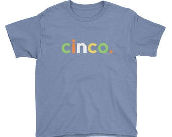 Spanish gifts etsy cinco birthday t shirt for boys 5 spanish nino gifts age five year old sciox Image collections