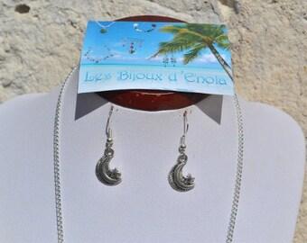 starry moon earrings