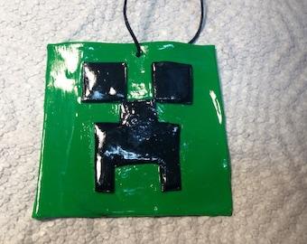 Minecraft polymer clay.Minecraft ornament.Minecraft gift tag.Minecraft party favors.Minecraft clay ornament