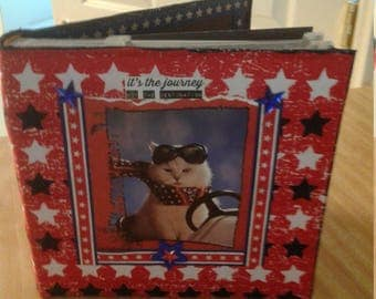 Patriotic Fabric Covered Photo Album
