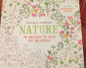 Adult Nature Coloring Book