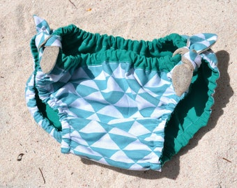 Reversible swimsuit from 2 to 10 years