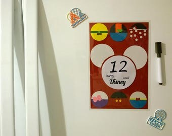 Countdown Days until Disney vacation magnetic - English version