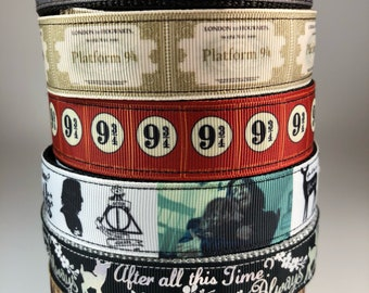 """Handcrafted 1"""" Harry Potter Dog Collars"""