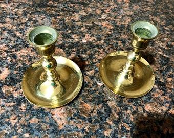 Small Brass Candle Sticks