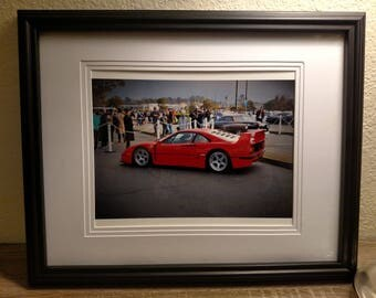 Ferrari F40 matte color framed photo