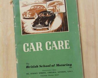 BSM/Castrol Oil Car Care booklet, motoring, 1958