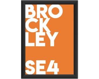 Brockley Typography SE4 - Giclée Art Print - South London Poster