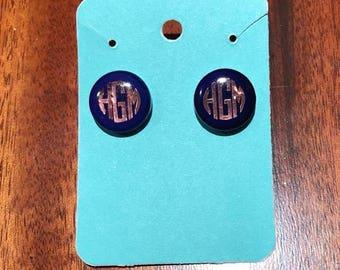 Custom Monogrammed Earrings