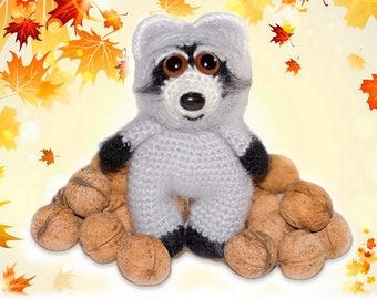 Crochet Pattern Cute Raccoon