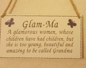 Nan Nanny Grandma gift shabby chic wooden plaque
