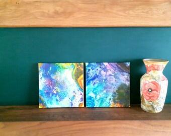 Fluid Art Paintings, Canvas Art, Wall Art, Abstract Painting, Psychedelic Art, Acrylic Art, Liquid Art, Fluid Painting, Home Decor,