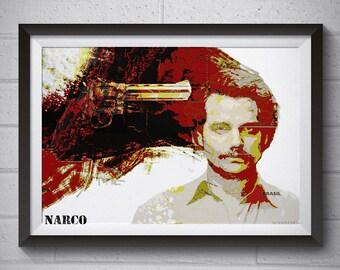 Poster Pablo Escobar Narcos Map