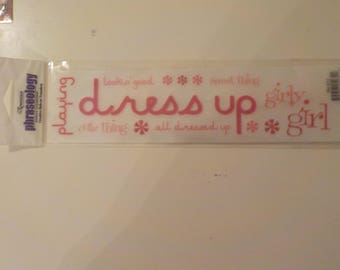 Little Girl Dress Up Rub Ons Stickers
