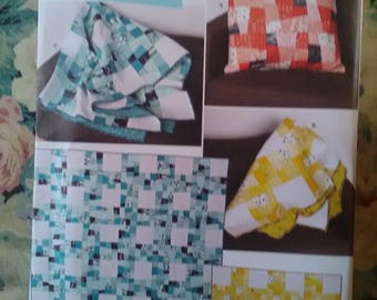 Brand new unused sewing quilting pattern Simplicity 1390 wonky nine patch quilting sew quilt