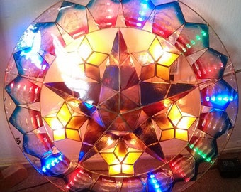 "Christmas Oyster Parol Lantern 19"""