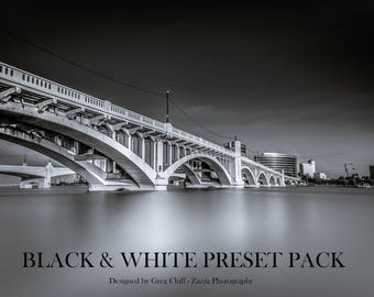 Premium Black & White Preset Pack for Adobe Lightroom