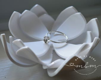 Dainty Sterling Silver Floral Ring