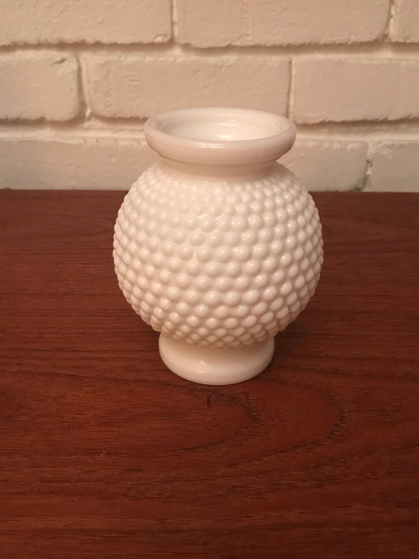 White shabby chic round hobnail milk glass vase reviewsmspy